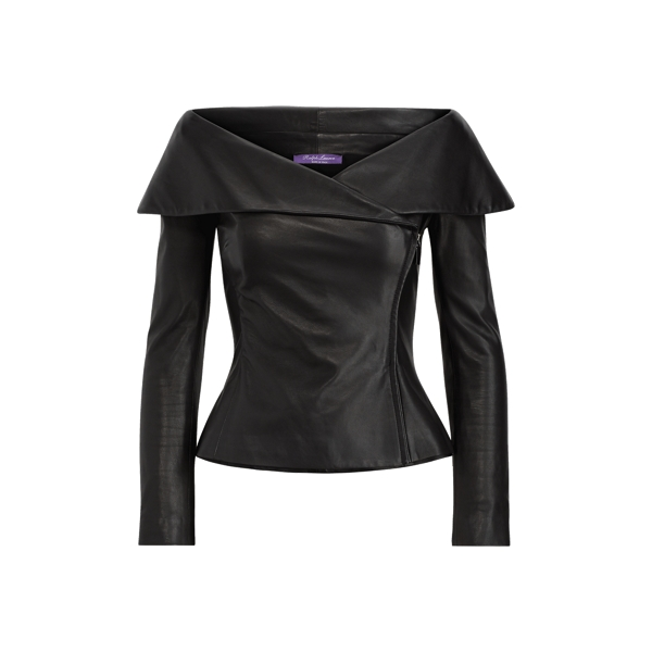 Maxine Nappa Leather Jacket by Ralph Lauren