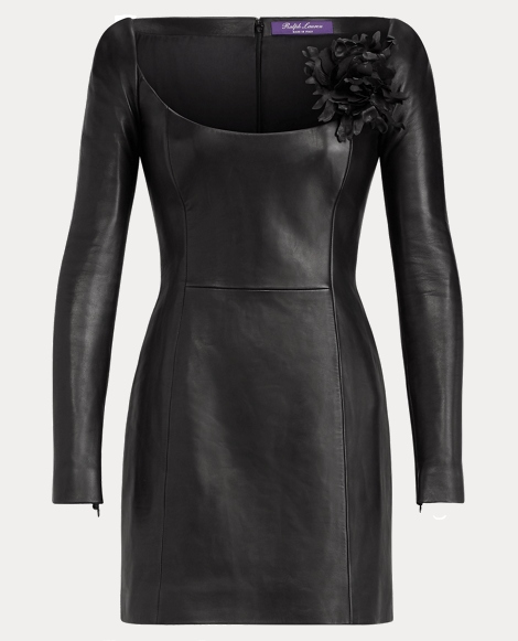 Charlotta Nappa Leather Dress