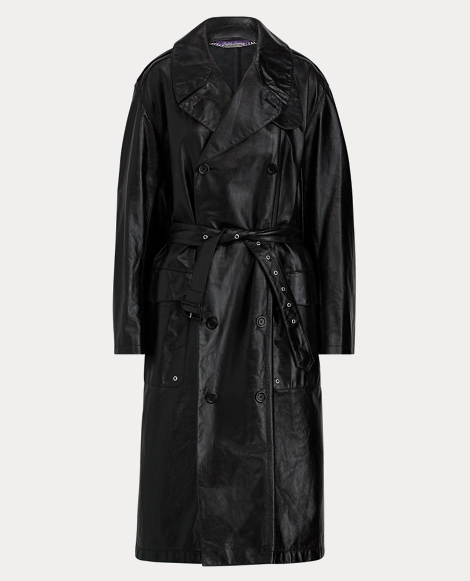 Derek Calfskin Trench Coat