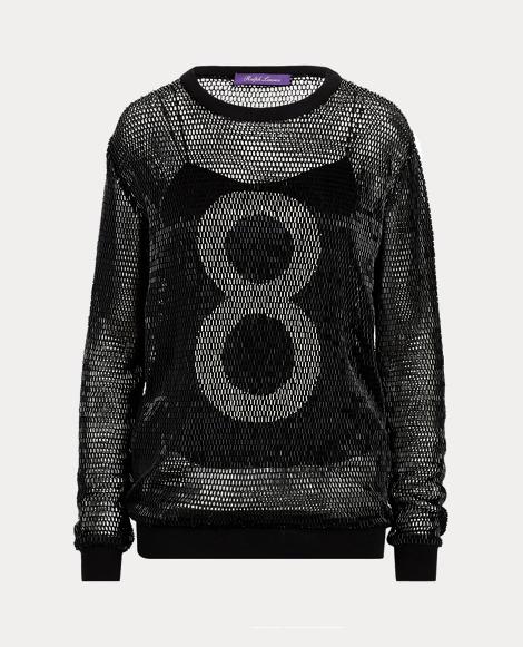 Beaded 8 Open-Worked Sweater