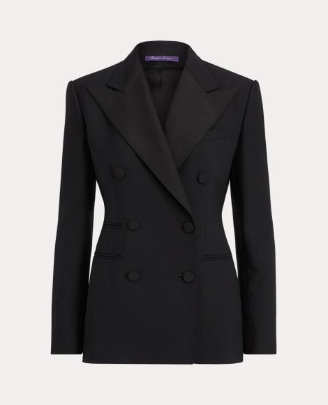 Buffy Wool-Silk Tuxedo Jacket