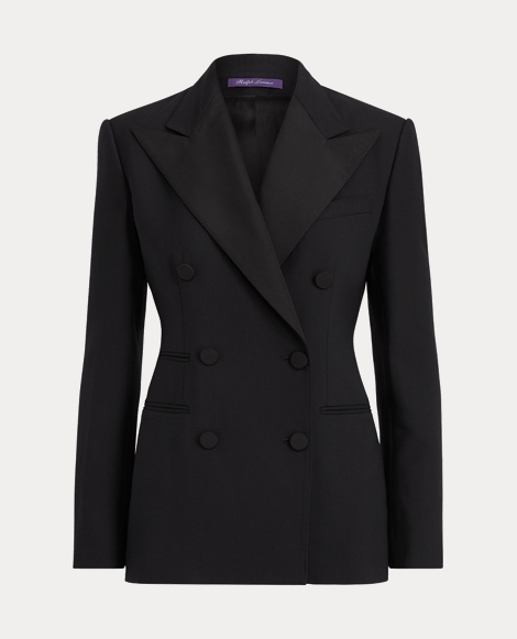 Buffy Wool-Silk Tuxedo Jacket