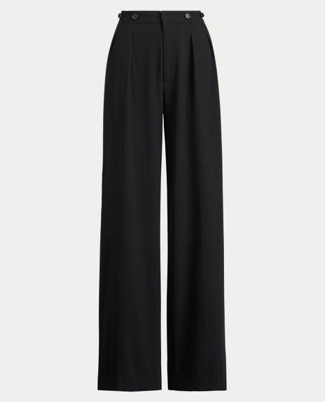 Haden Wool Crepe Wide-Leg Pant