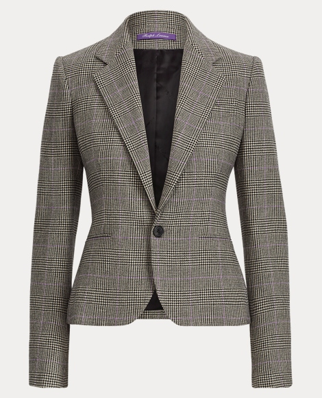Cadence Glen Plaid Wool Jacket
