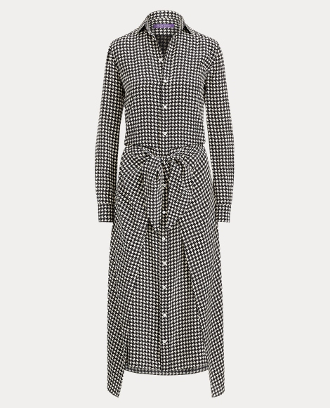 Alaina Houndstooth Shirtdress