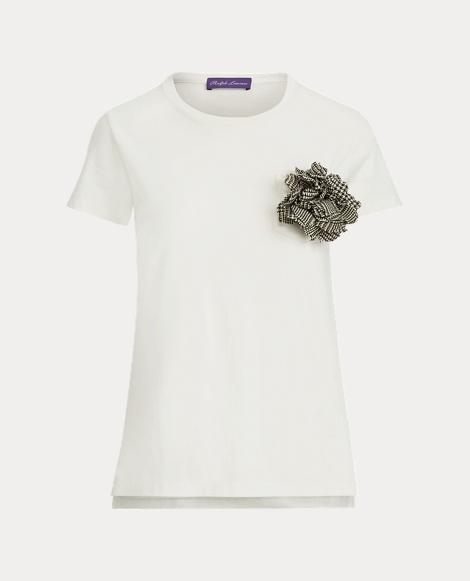 Flower Brooch T-Shirt