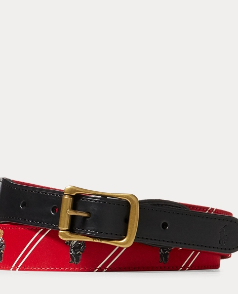 Polo Bear-Overlay Webbed Belt