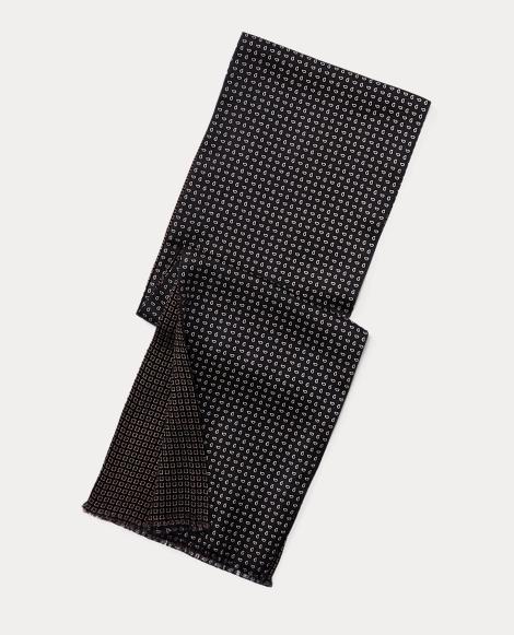 Reversible Wool-Silk Scarf
