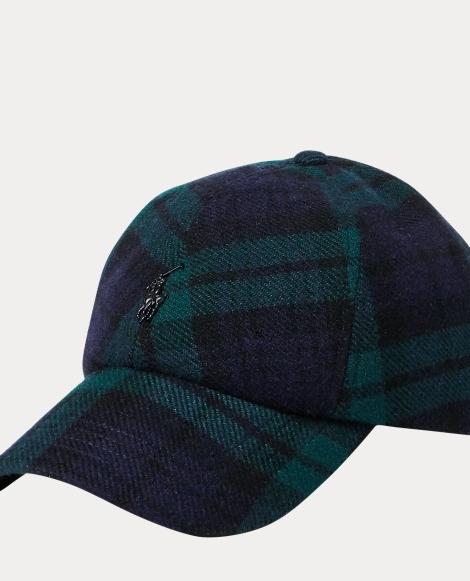 Tartan Wool-Blend Fitted Cap