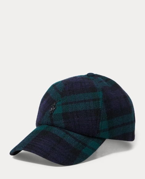 Tartan Wool-Blend Fitted Cap