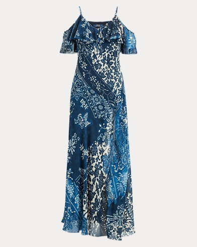 Floral Cold-Shoulder Maxidress