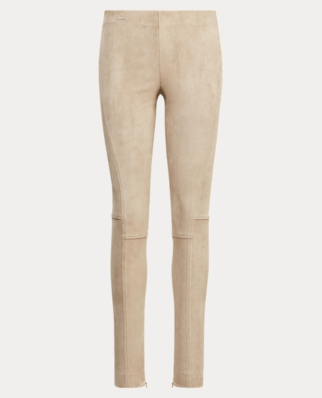 Stretch Suede Skinny Pant