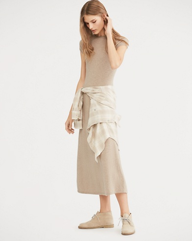 Cashmere Fit-and-Flare Dress