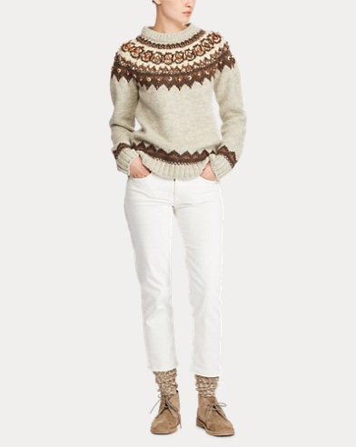 Polo Ralph Lauren  Beaded Fair Isle Sweater