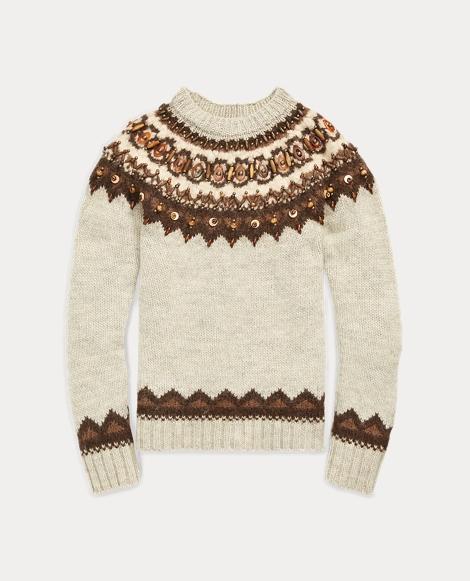 Beaded Fair Isle Sweater