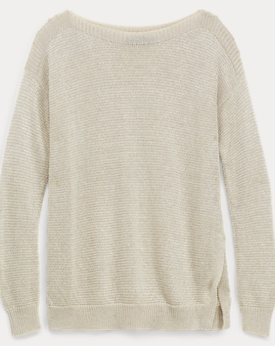 Metallic Ribbed Sweater