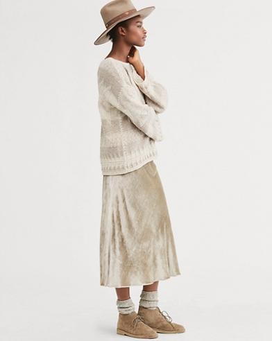 Flared Velvet Skirt
