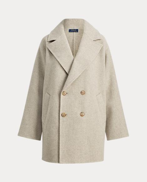 Double-Breasted Merino Coat