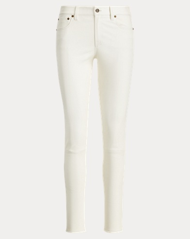 Stretch Leather Skinny Jean