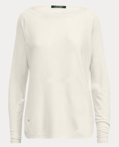 Silk-Blend Boatneck Sweater