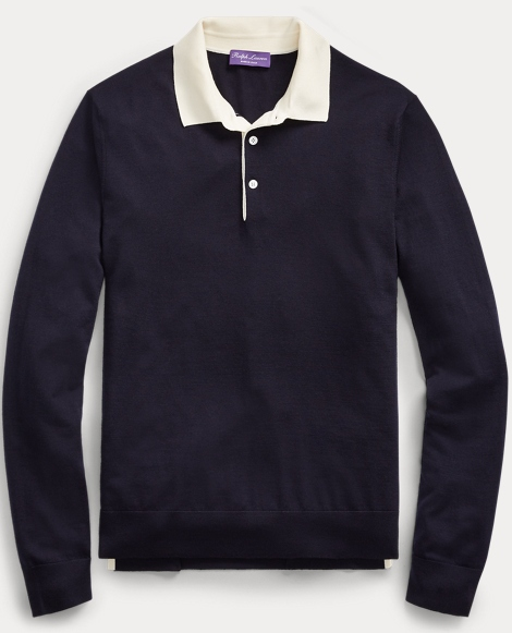 Merino Wool Rugby Sweater