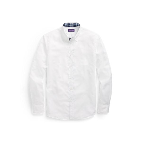Sale alerts for  Plaid-Trim Cotton Oxford Shirt - Covvet