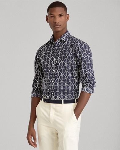 Racquet-Print Shirt