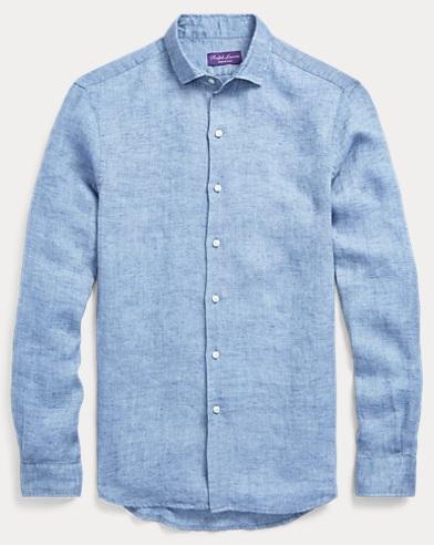 Textured Linen Dobby Shirt