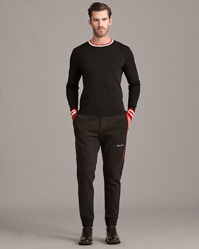 Stripe-Trim Wool Sweater
