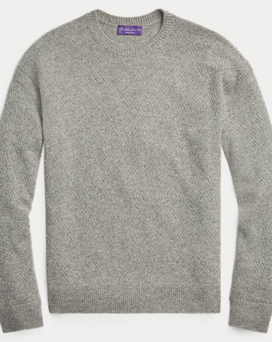 Diamond-Knit Cashmere Sweater