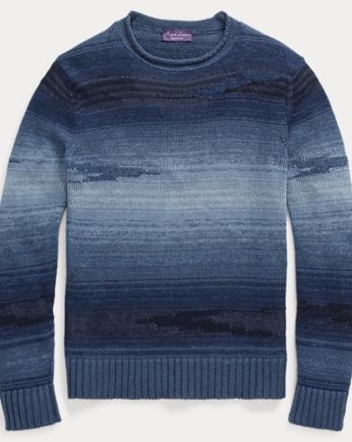 Ombré Linen-Blend Sweater