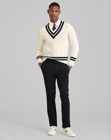 Wool-Cashmere Cricket Sweater
