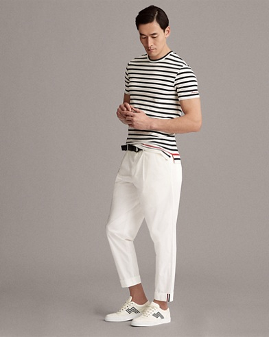 Striped Cotton Lisle T-Shirt