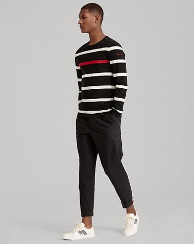 Striped Cotton Lisle T-Shirt