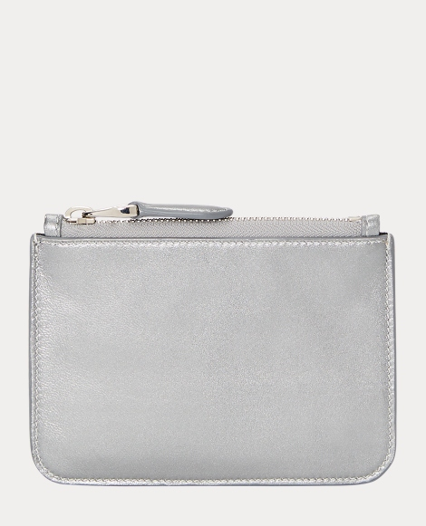 Metallic Nappa Mini Zip Pouch