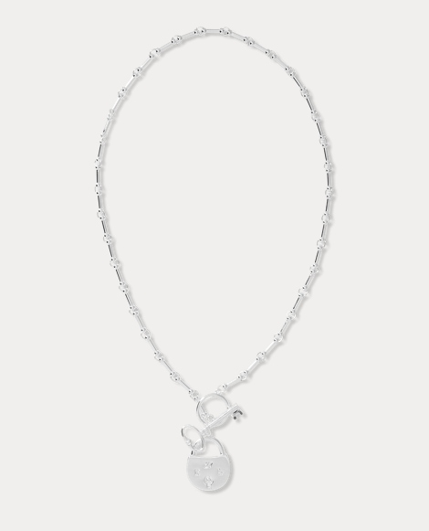 Silver-Plated Lock Necklace