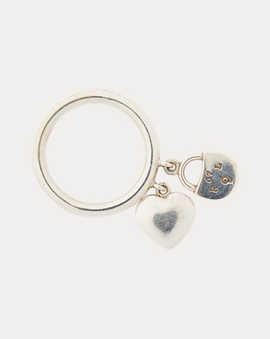 Heart-Lock Charm Ring