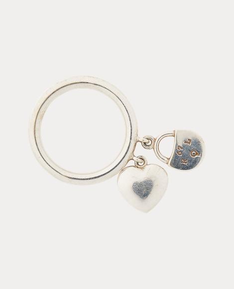 Heart-Lock Charm Ring