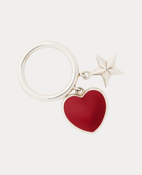 Heart-Star Charm Ring