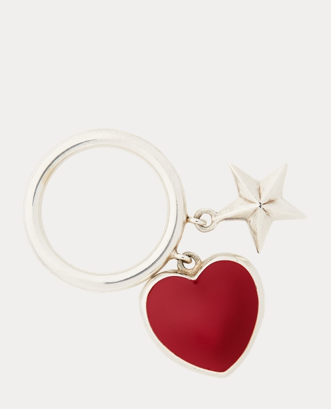Heart-Star Charm Ring