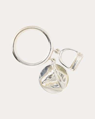 Horse Head-Stirrup Charm Ring