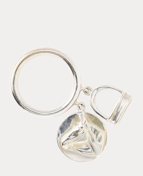 Horse Head-Stirrup Charm Ring
