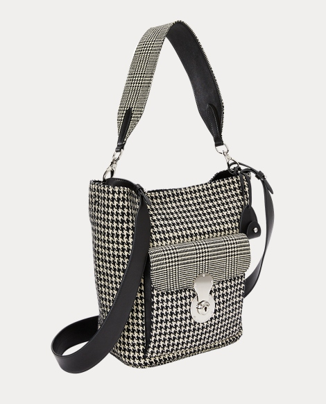 The Houndstooth RL Bucket Bag