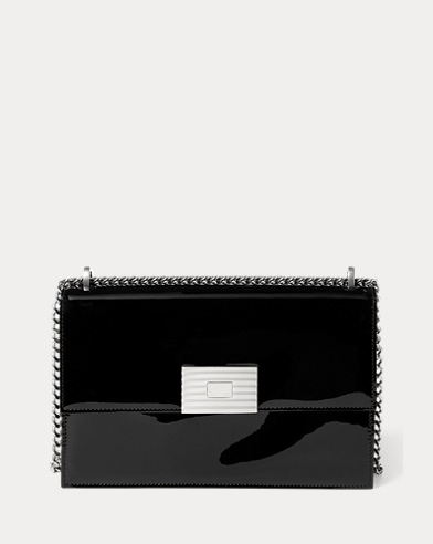 Patent Leather RL Chain Bag