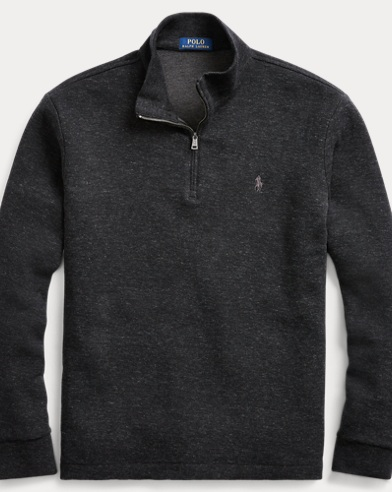 Cotton-Blend Half-Zip Pullover