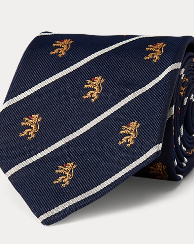 Striped Silk Club Tie