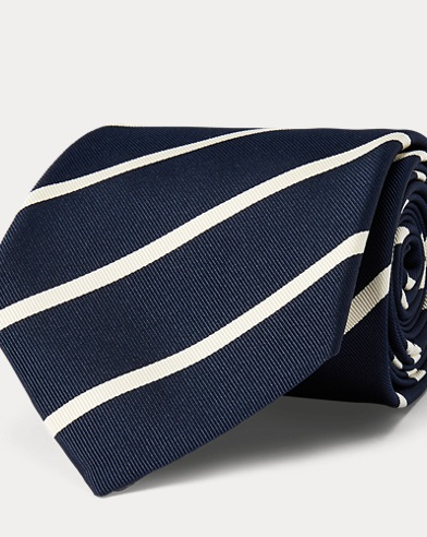 Striped Silk-Blend Mogador Tie