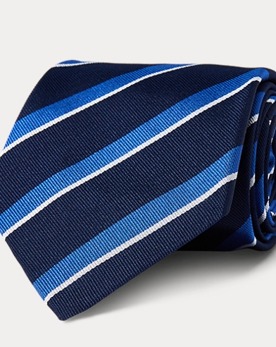 Striped Silk Repp Tie