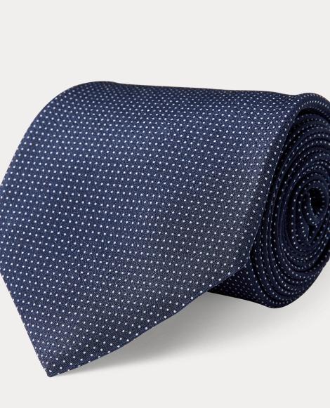 Pin Dot Silk Crepe Tie