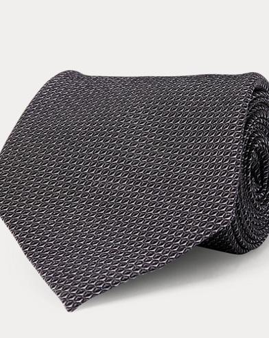 Diamond-Print Silk Crepe Tie